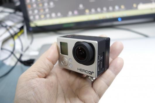 GoProのバッテリー強化_大型バッテリ正面