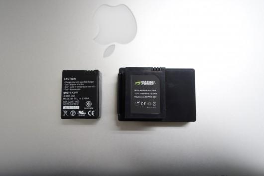 GoProのバッテリー強化_比較1